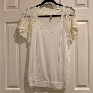 Free people lace sleeves shirt
